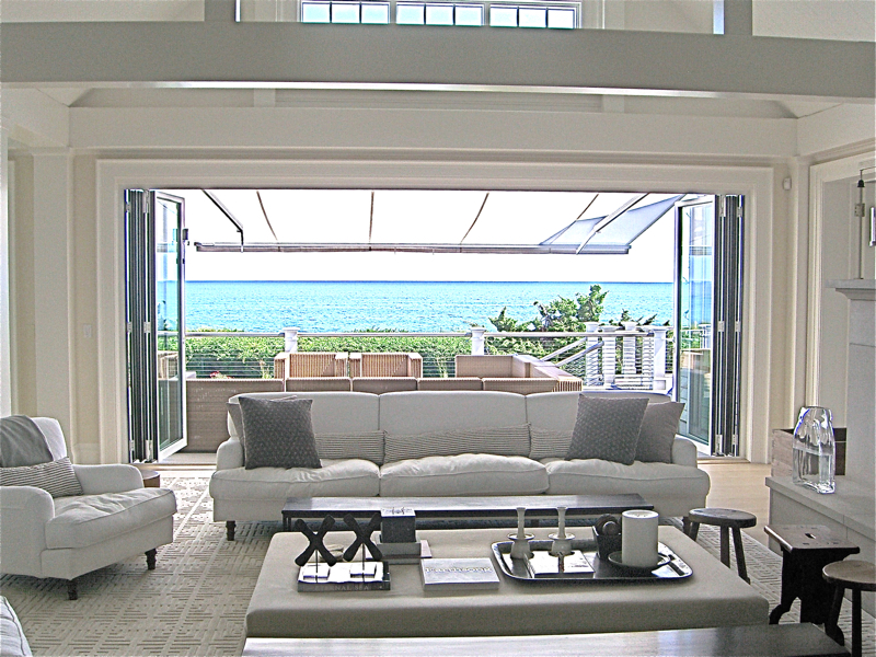 3-203 Surfside Living room open to veranda